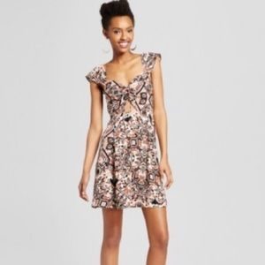 Xhilaration Flutter Sleeve Cut out Dress (L) NWOT